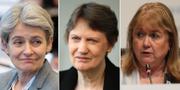 Den bulgariska politikern och före detta UNESCO-ledarem Irina Bokova, Nya Zeelands före detta premiärminister, Helen Clark and Argentinas före detta utrikesminister, Susana Malcorra.  TT
