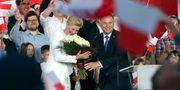 Andrzej Duda efter valet. Czarek Sokolowski / TT NYHETSBYRÅN