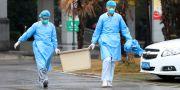 Medicinsk personal vid ett sjukhus i Wuhan. DARLEY SHEN / TT NYHETSBYRÅN