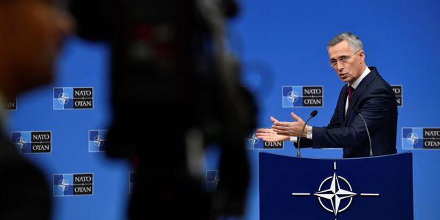 Jens Stoltenberg. JOHN THYS / AFP