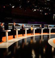 Partiledardebatten i SVT:s Agenda.  Jessica Gow / TT NYHETSBYRÅN