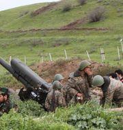 Armeniska soldater i Nagorno-Karabach 2016. Albert Khachatryan / TT NYHETSBYRÅN