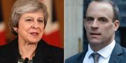 Theresa May och Dominic Raab. TT