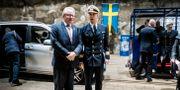 Försvarsminister Peter Hultqvist (S) vid Musköbasen.  Magnus Hjalmarson Neideman/SvD/TT / TT NYHETSBYRÅN