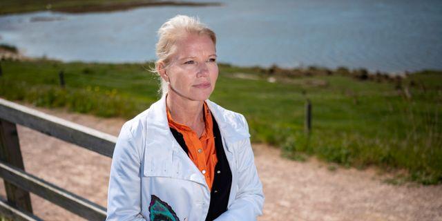 Kommunstyrelsens ordförande Carina Wutzler (M).  Johan Nilsson/TT / TT NYHETSBYRÅN