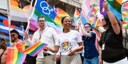 Kulturminister Alice Bah Kuhnke (MP) vid Pride i Malmö Johan Nilsson/TT / TT NYHETSBYRÅN