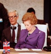 Margaret Thatcher, tidigare premiärminister i Storbritannien. Arkivbild. Lionel Cironneau / TT NYHETSBYRÅN