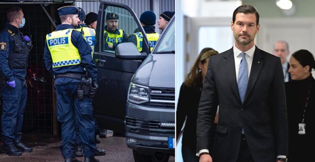 Poliser under Operation Rimfrost/Johan Forsell (M) TT