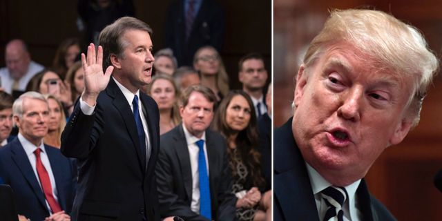 Brett Kavanaugh/Donald Trump. TT