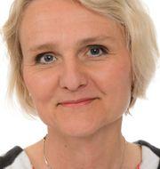 Titti Mattsson och riksdagshuset. Lunds universitet/TT
