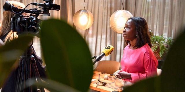 Nyamko Sabuni under en intervju i tisdags. Erik Simander/TT / TT NYHETSBYRÅN