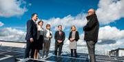 Politiker under pressträff om solceller Lars Pehrson/SvD/TT / TT NYHETSBYRÅN