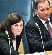 Märta Stenevi (MP) statsminister Stefan Löfven (S). Illustrationsbild. Claudio Bresciani/TT / TT NYHETSBYRÅN