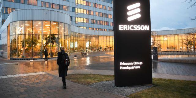 Bild från Ericssons huvudkontor i Kista.  Fredrik Sandberg/TT / TT NYHETSBYRÅN