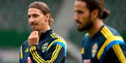 Zlatan Ibrahimovic och Erkan Zengin. JANERIK HENRIKSSON / TT / TT NYHETSBYRÅN