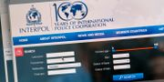 Arkivbild. Interpols hemsida. HENRIK MONTGOMERY / TT / TT NYHETSBYRÅN