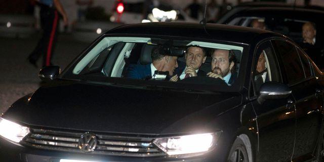 Guiseppe Conte anländer till mötet med president Sergio Mattarella. Massimo Percossi / TT NYHETSBYRÅN