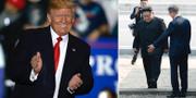 Donald Trump, Moon Jae-in och Kim Jong-Un. TT