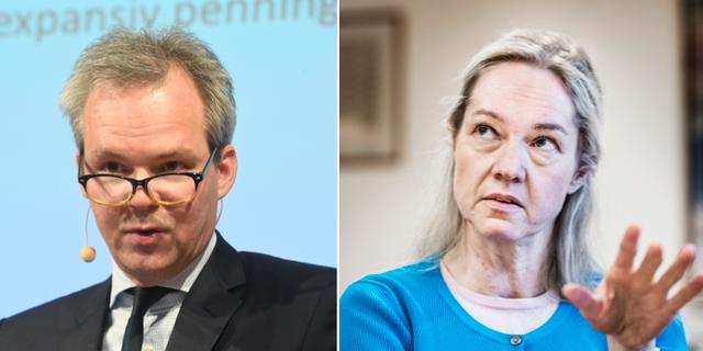 Två av Riksbankens vice chefer Per Jansson och Cecilia Skingsley.  TT