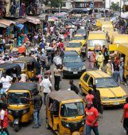 Marknad i Nigerias största stad Lagos Sunday Alamba / TT NYHETSBYRÅN