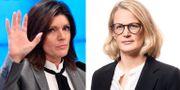 Arbetsmarknadsminister Eva Nordmark (S) och Svensskt Näringslivs arbetsmiljöexpert Amelie Berg TT + Svenskt Näringsliv
