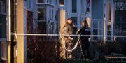 Polisen på plats. Pavel Koubek/TT / TT NYHETSBYRÅN