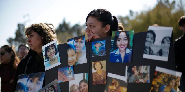 Manifestation för kvinnorättsaktivisten Isabel Cabanillas som mördats i Ciudad Juárez. JOSE LUIS GONZALEZ / TT NYHETSBYRÅN