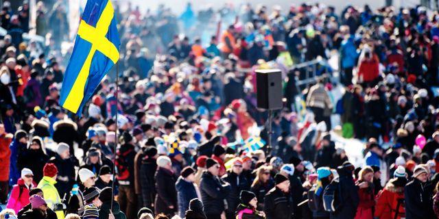 Publik vid Svenska skidspelen i Falun förra vintern. SIMON HASTEGÅRD / BILDBYRÅN