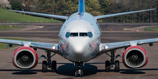 Ett Boeing 737-600 flygplan taxar in till gate på Malmö Airport. Arkivbild. Johan Nilsson/TT / TT NYHETSBYRÅN