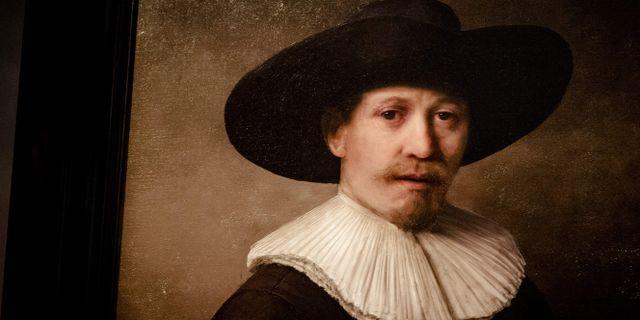 Tavlan visas upp på Galerie Looiersgracht60 i Amsterdam. ROBIN VAN LONKHUIJSEN / ANP