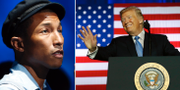 Pharrell Williams, Donald Trump. Arkivbilder.  TT