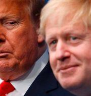 Donald Trump och Boris Johnson PETER NICHOLLS / AFP
