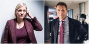 Finansminister Magdalena Andersson och Thomas Bodström. TT