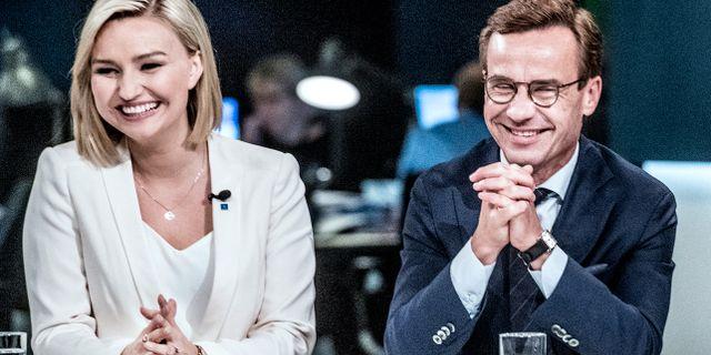 Ebba Busch Thor och Ulf Kristersson. Arkivbild. Tomas Oneborg/SvD/TT / TT NYHETSBYRÅN