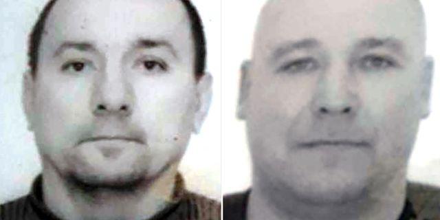Jaroslav Lavryniv och Olexsandr Traiduk misstänks för mordet på Gert-Inge Bertinsson.  Polisen.