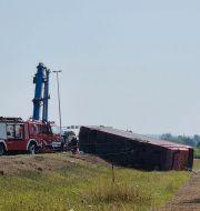 Bussolycka i Kroatien  Luka Safundzic / TT NYHETSBYRÅN