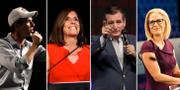 Från vänster: Beto O'Rourke, Martha McSally, Ted Cruz och Kyrsten Sinema. TT
