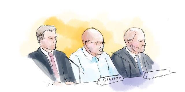 Teckning från rättegången. Petra Frid/TT / TT NYHETSBYRÅN