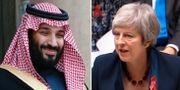 Mohammed bin Salman och Theresa May.  TT