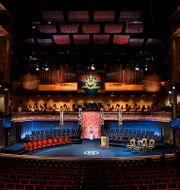 Konserthuset i Stockholm där priserna normalt delas ut. Jessica Gow/TT / TT NYHETSBYRÅN