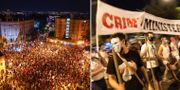 Lördagskvällens demonstration i Jerusalem. TT/AP