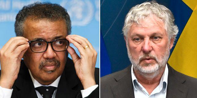 WHO-chefen Tedros Adhanom/Peter Eriksson AP/TT