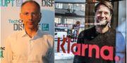 Michael Moritz och Klarnas Sebastian Siemiatkowski Max Morse/Techrunch och Lars Pehrson/SvD/TT