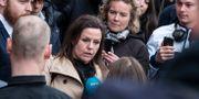 Försvarsadvokat Betina Hald Engmark efter Peter Madsens livstidsdom i Byreten i Köpenhamn. Johan Nilsson/TT / TT NYHETSBYRÅN