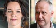 Veronica Palm och Jonas Sjöstedt. TT