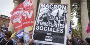 Protester som inleddes redan igår. ERIC CABANIS / AFP