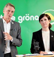 Språkrören Märta Stenevi och Per Bolund. Anders Wiklund/TT / TT NYHETSBYRÅN