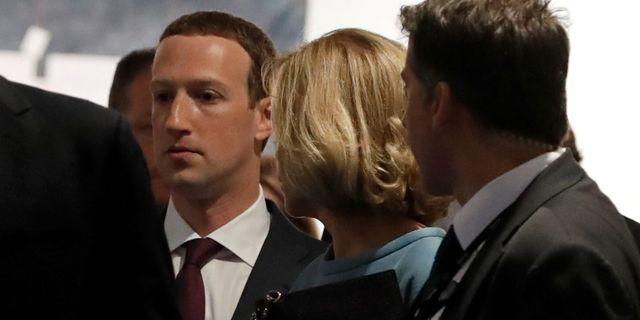 Arkivbild. Facebooks Mark Zuckerberg i EU-parlamentet. YVES HERMAN / TT NYHETSBYRÅN