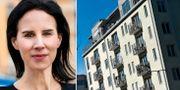 Pressbild: Daniella Waldfogel, näringspolitisk chef på Stockholms handelskammare. Arkivbild: Bostadshus i Stockholm. Stockholms handelskammare/TT