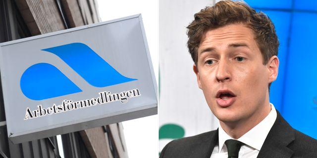 Emil Källström (C) tycker att Arbetsförmedlingen har gjort sitt. TT